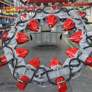 Hydraulic circular concrete pile cutter for excavator used