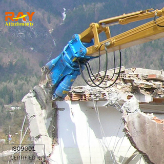 Excavator demolition shear,pulverizer,cutting machine,steel or concrete shear