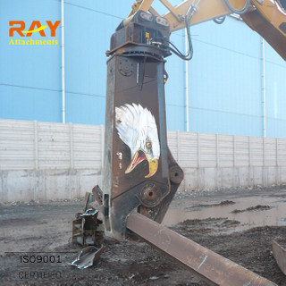 Hydraulic concrete crusher pulverizer shear for excavator used