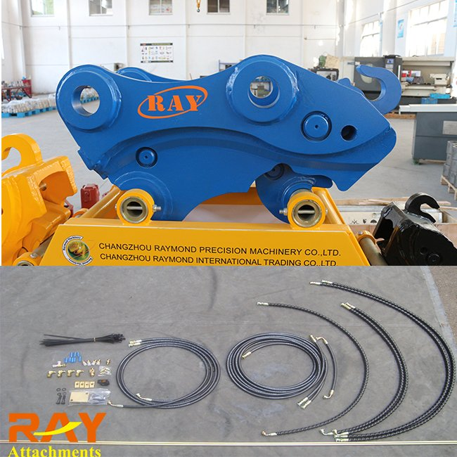 RAY Quick Hitch Couplers WITH Excavator Hydraulic Quick Hitch