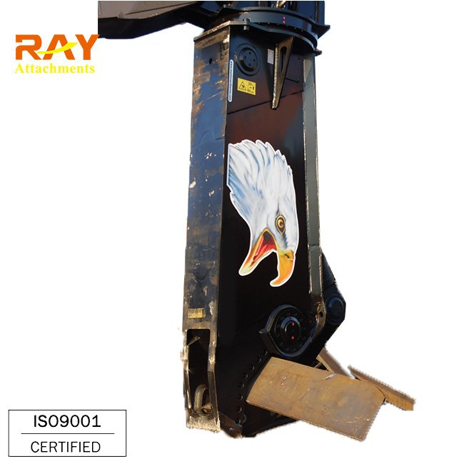 Hydraulic metal shear cutter for excavator
