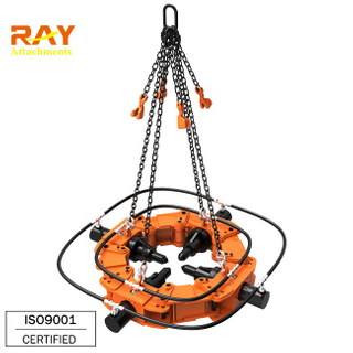 Hydraulic concrete pile cutting machine for excavator used