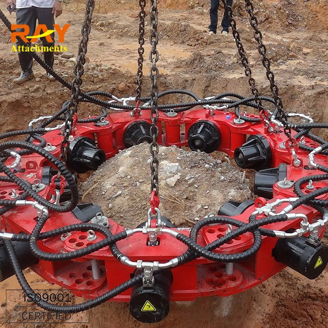 Hydraulic stone pile breaking machine for excavator used